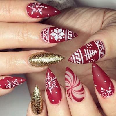 christmas nail art festive