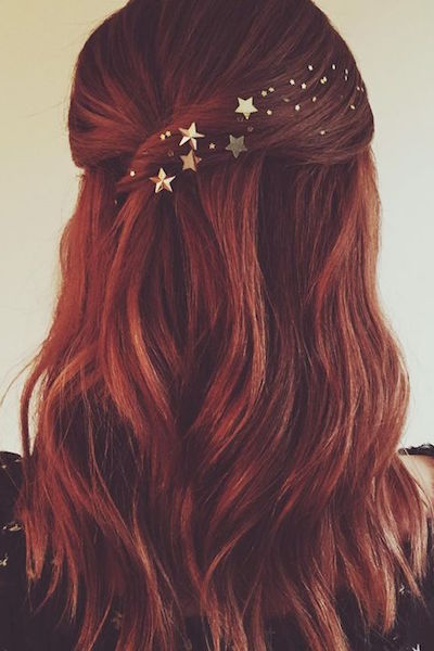 christmas party hairstyle stars