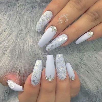 christmas nail art white christmas