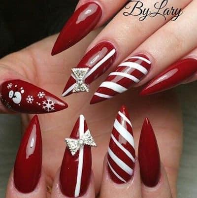 christmas nail art claws