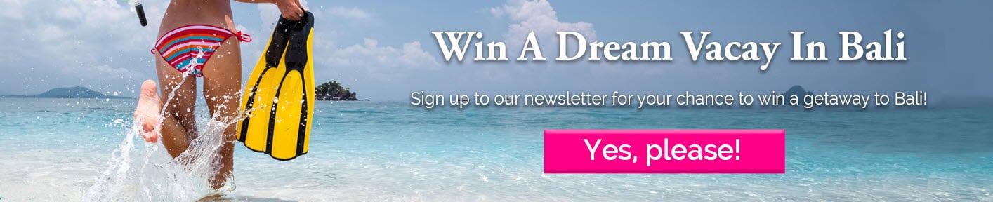 Win a trip to Bali